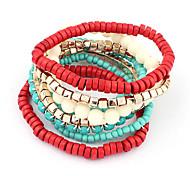 Wrap Bracelet Wooden Beads Strand Bracelet (Random Color)