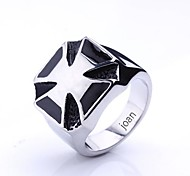 Personalized Gift  Fashionable Cross Shaped Stainless Steel Jewelry Engraved  Men's Ring