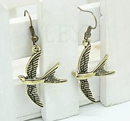 Lureme®Vintage Metallic Swallow Earring
