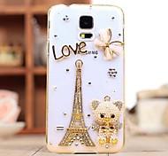 Diamant Eiffelturm und der Bär Hülle für Samsung Galaxy i9600 s5