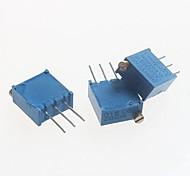 3296 potenziometro 2kOhm resistori regolabili - blu (10 pz)