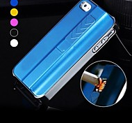 ENKAY Portable USB Charging Electronic Lighter or iPhone 5/5S Back Case with Screen Protector