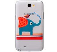 Für Samsung Galaxy Note Muster Hülle Rückseitenabdeckung Hülle Elefant PC Samsung Note 2
