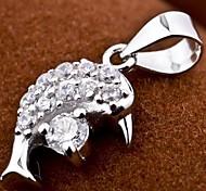 I FREE®S925 Silver Dolphins Shape Inlaid Zircon Pendant (1 pc)