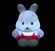 Multicolor Cute  Rabbit Design  Plastic Night Light (1pcs)