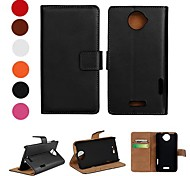 Solid Color PU Leather Full Body Case with Stand and Card Slot for HTC One X (Assorted Colors)