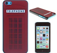 The Red Phone Booth Pattern PC Hard Case for iPhone 5C