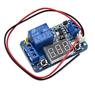 LED Digital Display Circle Delay Time Relay Module Time Adjustable - Blue (12V)