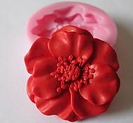 цветок выпечки помадка торт шоколадные конфеты плесень, l4.8cm * w4.8cm * h1.2cm