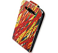 Colorful Line Up-down Turn Over PU Leather Full Body Case for  Samsung Galaxy S3 I9300