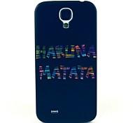 Black Matata Pattern Hard Case Cover for Samsung Galaxy S4 I9500