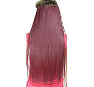 Clips di vendita caldi Colour Colorful Red Bar Extension capelli ragazza all'ingrosso Beauty Top Quality