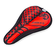 INBIKE High Elastic Fabric+GEL Red+Black Cycling Saddle Cover