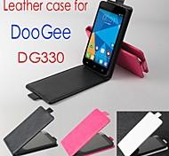 vendita calda cassa di cuoio dell'unità di elaborazione del cuoio di vibrazione 100% per dg330 doogee su e giù per smartphone a 3 colori