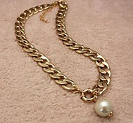 Personalized Pearl Chain Necklace