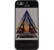 cas dur paris tactile françaises conception en aluminium pour l'iPhone 5 / 5s
