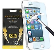 Tension anti-choc de protection de l'écran de 220% pour l'iphone 5 / 5c / 5s
