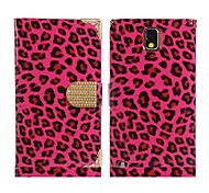 Leopard Print Faux Leather & Alloy Flip Case for Samsung Galaxy Note 3 N9000 N9002(Assorted Colors)