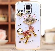 Luxus Diamanten Kristall Kitty rückseitigen Abdeckung für Samsung Galaxy S5 mini