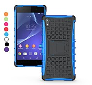 Dual-color Antiskid Detachable 2 in 1 PC and TPU Hybrid Case with Kickstand for Sony Xperia Z2 (Assorted Colors)