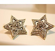 Rhinestone Star Hollow Out Earrings