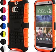 For HTC Case Shockproof / Embossed Case Back Cover Case Armor Hard Silicone HTC