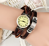 Montre Bracelet en Similicuir Marron