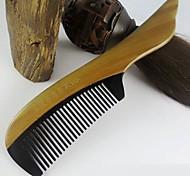 19x4.5cm de haute qualité de bois de santal vert mixte bois avec un peigne de corne de boeuf