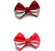 pinces à cheveux ruban de satin de couleur double bowknot épingle à cheveux de coiffe haute qualité de livraison aléatoire