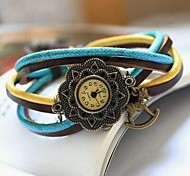 Lady Personality Wild Fashion  Leather Quartz Movement Watch Assorted Colors