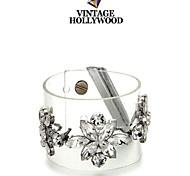 Luxury White Crystal Flower Shourouk Bracelets (1pc)