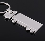 Bus Shape  Metal Silver Keychain Toys
