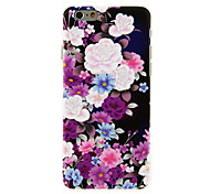 Colorful Peony Pattern PC Hard Back Cover for iPhone 6