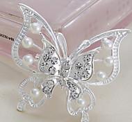 Mode neuen Stil euramerican Schmetterlingsform Silber-Legierung Strass Broschen (1 PC)