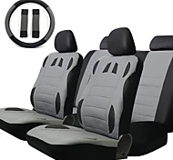 TIROL New 13-Piece/Set Front Rear Car Seat Covers Set Universal 2 Front Seat 1 Bench Seat Including Wheel Cover