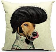 мультфильм красивый собака хлопок / лен декоративная наволочка