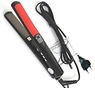 """loof 360 rotativo de 0,7 """"placa de titânio tela alisador de cabelo - preto (110 ~ 240V / UE Plug)"""