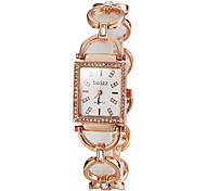 Women's Fashion Diamond Square Dial Alloy Band Bracelet Watch(Assorted Colors) Cool Watches Unique Watches