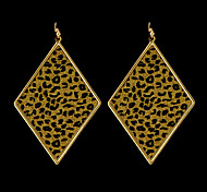 Fashion Yellow Leopard Print Drop Earring(1 Pair)