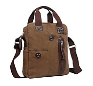 Men's Outdoors Fashional Brown Canvas Business Single-Inclined-Shoulder Hand Bags