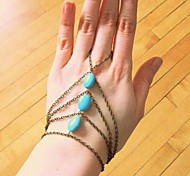 Women's Fashion Manual Natural Stone Even Live Fingers Bracelet