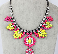 Vintage  () Silver Alloy Statement Necklace() (1 Pc)