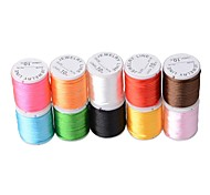 Nylon Satin Rattail Beading Cord (10Meters/lot)(Multicolor)