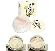 LIDEAL®Soybean Whitening Shimmer Pearly Lustre Makeup Loose Finishing Powder(Powder Puff in,Assorted 2 Shimmer Color)