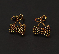 Classic Bronze Small Bowknot Shape Stud Earring(1 Pair)