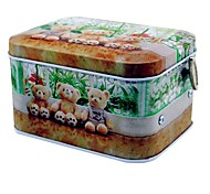 Bear Pattern Metal Storage Music Box Toys