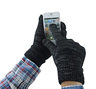 Men 3-Finger Touch Screen Knited Camouflage Winter Warm Gloves for iPhone/iPad