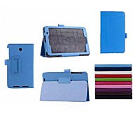 7 Inch Lichee Pattern PU Leather Case with Stand Holder for ASUS  MEMO Pad 7 ME176C (Assorted Colors)