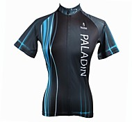 PaladinSport Women's Blue  Spring and Summer Style 100% Polyester Short Sleeved Cycling Jersey
