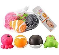 4 pièces motif de la mer sur le thème jouets de bain pour bébé bathtime Squirters mous jouets